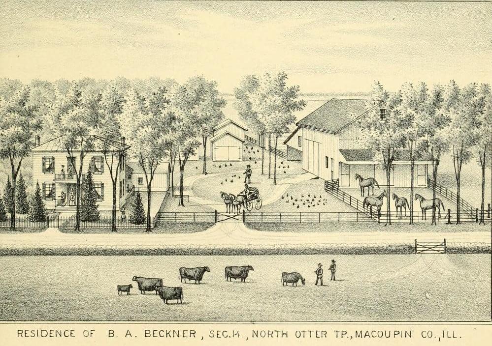 Residence of Benjamin A Beckner