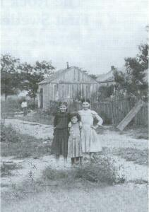 This photo of three young Kaskaskia girls belies the truth that life was difficult in the region. Despite the rich soil and easy access to water, frequent flooding caused great upheaval for Kaskaskia residents.