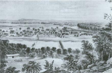 White settlers eventually made their way to the American Bottom and founded the town of Kaskaskia.